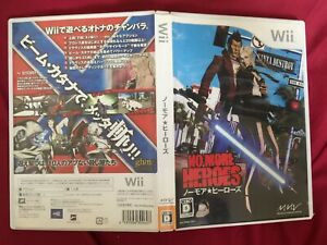 Wii NO MORE HEROES JAPANESE 2007 Nintendo TESTED WORLD FREE POST