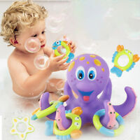 uk Floating Bath Toys Baby Octopus Kids Infant Toddlers 5 Rings Learn Play Fun