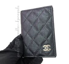 CHANEL NWOT 19S Iridescent Black Caviar ID Holder Wallet with LGHW