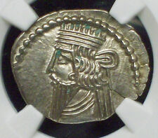 NGC Ancients MS Grade PARTHIAN KINGDOM 78-120 AD Pacorus AR Drachm Vologases III