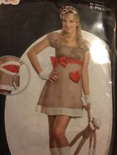 New Sexy Ms. Sock Monkey Deluxe Women Costume S(4-6)