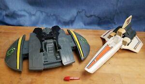Vintage Battlestar Galactica Colonial Viper and Cylon Raider 1 Missile - Mattel
