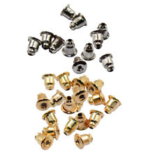100pcs Metal Earring Backs Stoppers Findings Ear Post Nuts Jewelry Findings