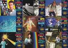 BILL NYE THE SCIENCE GUY 1995 SKYBOX COMPLETE BASE CARD SET OF 94 CH