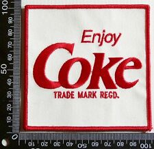 VINTAGE ENJOY COKE COCA-COLA EMBROIDERED SOUVENIR PATCH WOVEN CLOTH SEW-ON BADGE