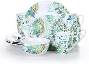 VEWEET, Series Elina, 16-Piece of Porcelain Combination Set