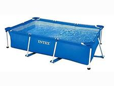 Family Swimming Paddling Pool Outdoor Summer Garden Solid Metal Tubular Frame