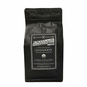 Jackhammer High Voltage Caffeine Organic Coffee, Whole Bean 1 LB - Free Shipping