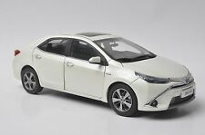 Toyota Levin Hybrid car model in scale 1:18 white