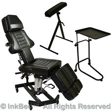 InkBed Tattoo Package Massage Table Chair Arm Bar Ink Bed Tray Studio Equipment
