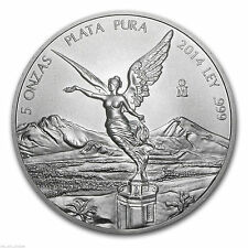 2014 Libertad 5 OZ In Airtite .999 Silver BU.