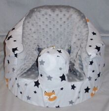 New Bumbo Floor Seat Cover • Sleepytime Fox w/Stars • Safety Strap Ready