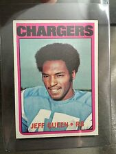 1972 TOPPS #117 JEFF QUEEN, #163 DANNIS PARTEE**CHARGERS* KRFB-8073 3 CARD LOT