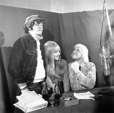 DONOVAN clipping UK w/ singer Twinkle & Jimmy Saville radio 1960s B&W photo BBC