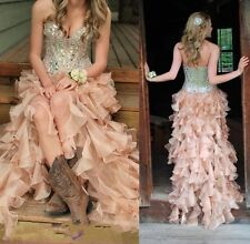 Beaded Sweetheart Evening Party Dress Custom Formal Prom Ball Gown Pageant Long
