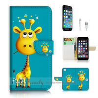 ( For iPhone 7 ) Wallet Case Cover P1957 Baby Giraffe