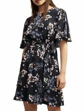 WITCHERY Georgette Print Dress with Frill Detail.. Fit Size 8/10
