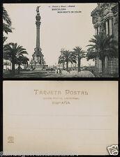 1211.-BARCELONA -10 Monumento a Colón (Hauser y Menet)(Postal sin división)