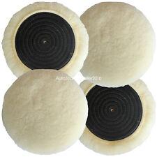 4PCS 4 Inch Polishing Buffer 100% Natural Wool Polishing Pad Buffing Pads Kit