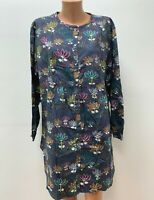 GUDRUN SJODEN size XL - XXL Robe - Dress - Shirt Multicolored Floral Long Sleeve