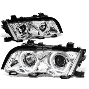 For 1999-2001 BMW 3-Series E46 Dual LED U-Halo Projector Headlight Head Lamp Set