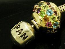 Bd040 Genuine 9ct Gold NATURAL Gems Colorful Pave Bead Multi-Gem Amethyst,Garnet