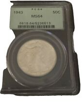 1943 Walking Liberty Half In PcgsMs 64 Old Green Holder