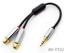 6-inch 3.5mm Stereo Male to Dual RCA Female Left/Right Preminum Cable, AV-Y12J