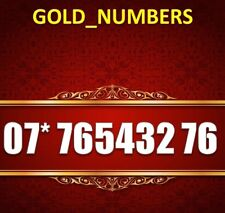 GOLD MOBILE PHONE NUMBER MEMORABLE GOLDEN EASY VIP 07*76543276