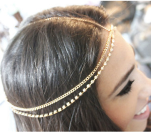Rhinestone Crystal Headpiece Jewellery Head Chain Hairband Headdress Wedding