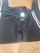 Ladies Adidas 3 Stripe Tight Black Leggings Size Large uk 16-18