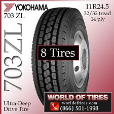 Yokohama Commercial Tires 703ZL 11R24.5 8 Tires $491 Each FREE SHIPPING