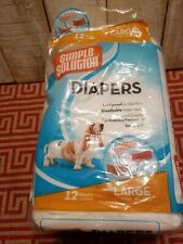 Simple Solution Disposable Dog Diapers for Female Dogs | Super Absorbent