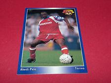 ABEDI PELE OLYMPIQUE LYON OL GERLAND TORINO PANINI FOOTBALL CARD 1994-1995