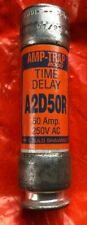 Gould Shawmut A2D50R 50A 250V Class RK1 Time Delay Fuse NEW