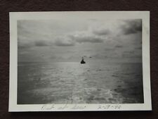 WW2 VIEW OF TWO PLANES FLYING OVER  U.S.S. DUNCAN IN THE SEA OF JAPAN 1946 PHOTO