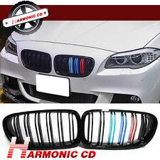 For 11-14 BMW F10 528i 535i 550i M5 Glossy Black M Tri Front Kidney Grille Hood