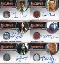 Battlestar Galactica Season Four Autograph Costume Card Set 6 Cards