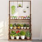 Indoor Outdoor Hanging Plant Stand 3Tier Ladder Shelf Flower Display Rack Holder