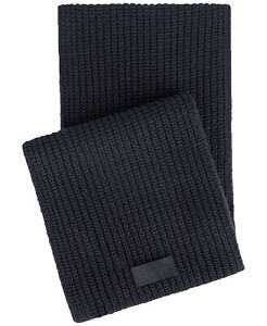 New Mens Calvin Klein Chunky Ribbed Knit Midnight Blue Winter Scarf One Size