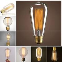E26 40/60W Vintage Retro Filament Edison Tungsten Light Bulb Lamp Incandescent