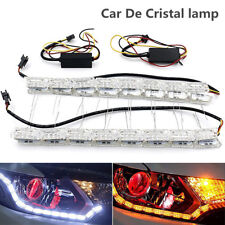 2X Car Flexible Switchback LED Knight Rider Strip Light DRL SequentialTurn Lamp
