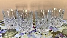 NACHTMANN GERMAN CUT CRYSTAL WHISKEY GLASSES, SET OF 4