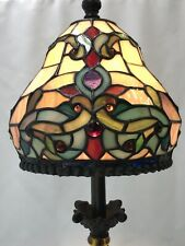 Vtg Dale Tiffany Stained Slag Glass Lamp Shade Arts & Crafts Deco Gems Small 8""