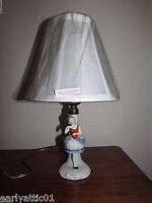 Antique German Ballerina with Tutu Porcelain Lamp with NEW Shade Rare! 1920's