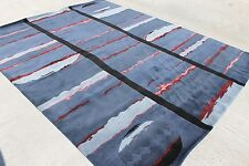 RSG1171 Contemporary Hand Crafted Tibetan Woolen Rug 8' x 10' Blue Made in Nepal