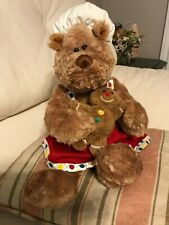 """Gund Ginger Snap Cookie Recipe Bear Soft Toy Plush Cooking 16"""" Teddy Christmas"""