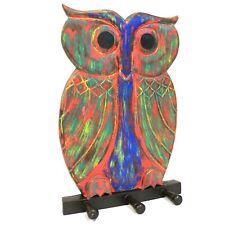 Wooden Coat Hanger - Multicolour Owl