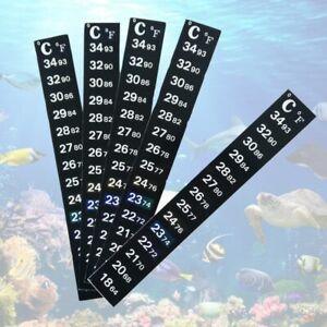 Digital Aquarium Fish Tank Thermometer Temperature Sticker Dual Scale Stick