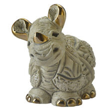 De Rosa Baby White Rhino Figurine F420 in Branded Gift Box